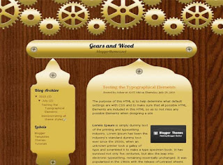 Gears And Wood Blogger Template