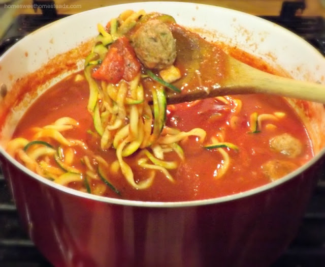 Home Sweet Homestead: Low FODMAP Spaghetti and Meatball Soup