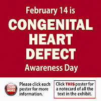 February 14 is Congenital Heart Defect Awareness Day