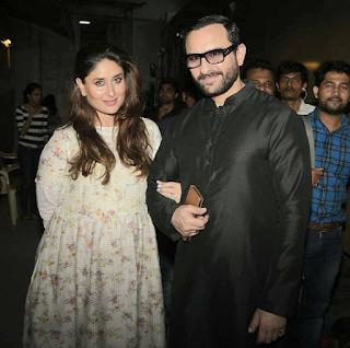 Foto Kareena Kapoor Sedang Hamil ditemani Suaminya Saif Ali Khan