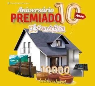 Cadastrar Promoção Casa de Bolos 2020 Aniversário 10 Anos Premiado - Casa e Prêmios
