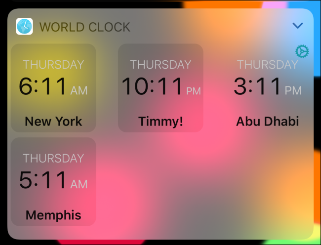 الساعة العالمية في الوضع الرقمي.