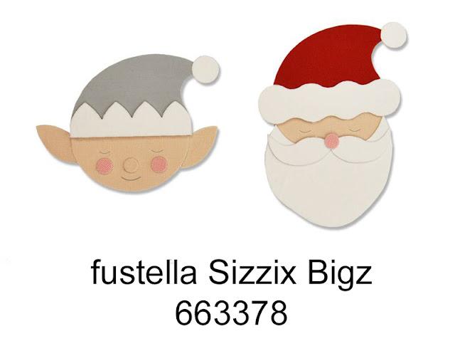 fustella Babbo Natale ed Elfo – Sizzix Big Shot