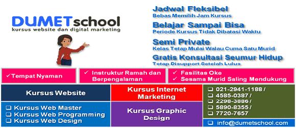 Kursus Website dan Internet Marketing Jakarta, Depok, Tangerang