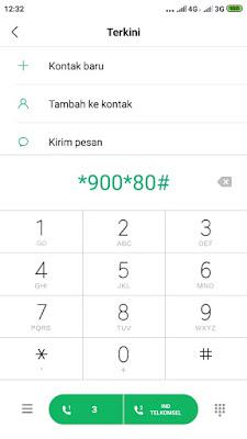 dial *900*80#