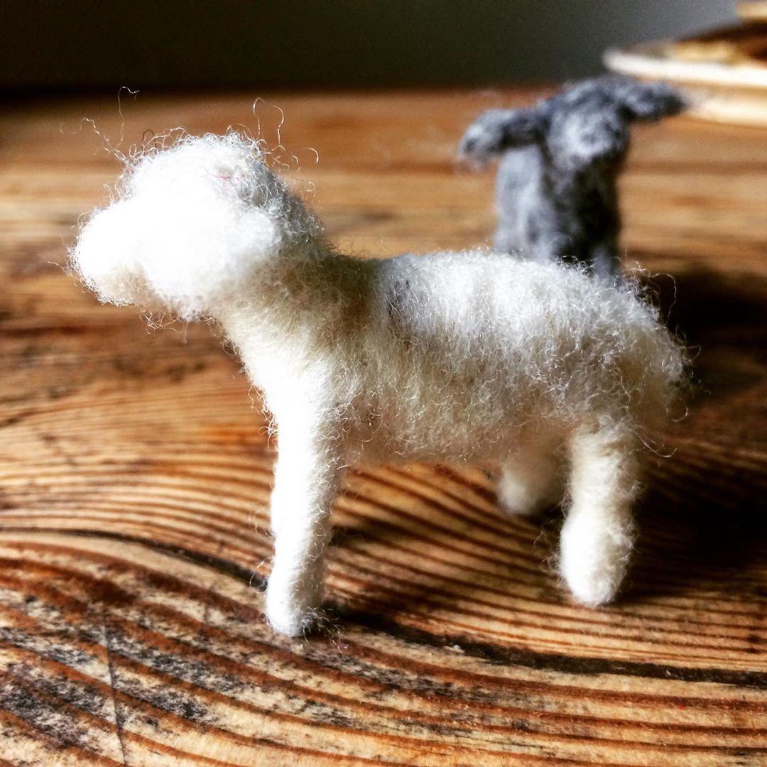 die guten Dinge Blog Tutorial Anleitung Schafe filzen