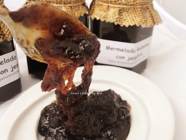 Mermelada de ruibarbo con un toque de jengibre en Crock Pot