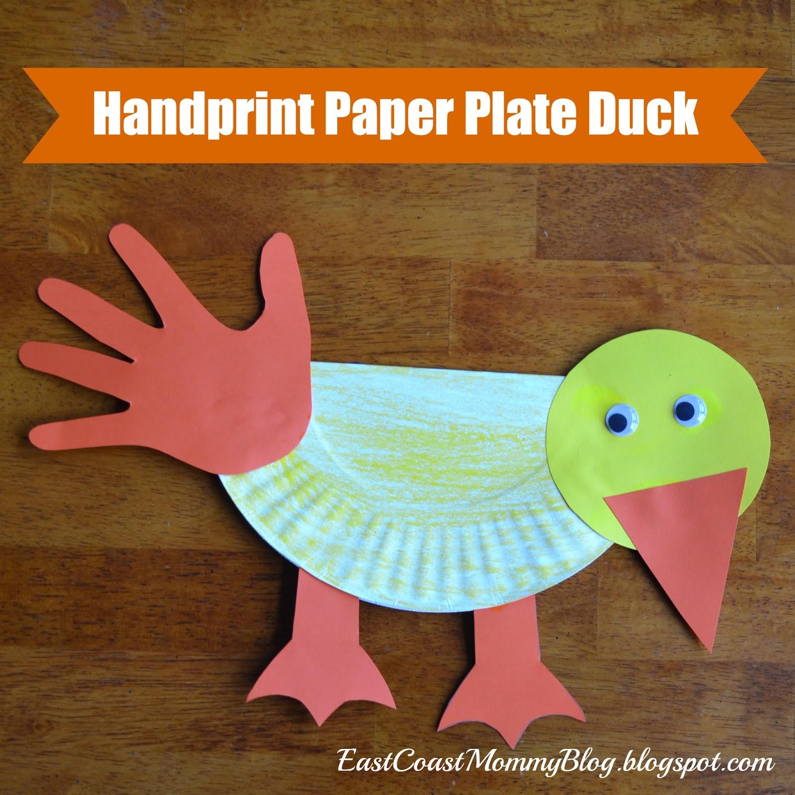 East Coast Mommy: ECM Kids\' Craft Club - #18 {Paper Plate Duck}