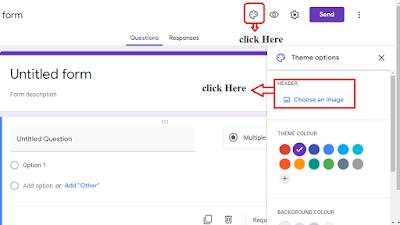 add google form header image