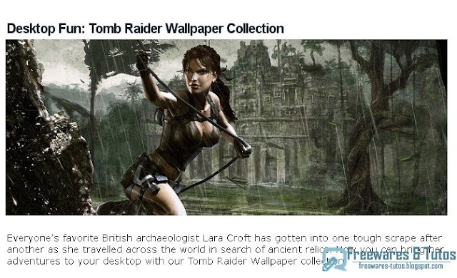 Fonds d'écran Tomb Raider/Lara Croft