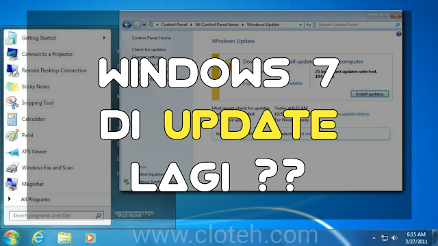 Windows 7 Diupdate ke Versi terbaru