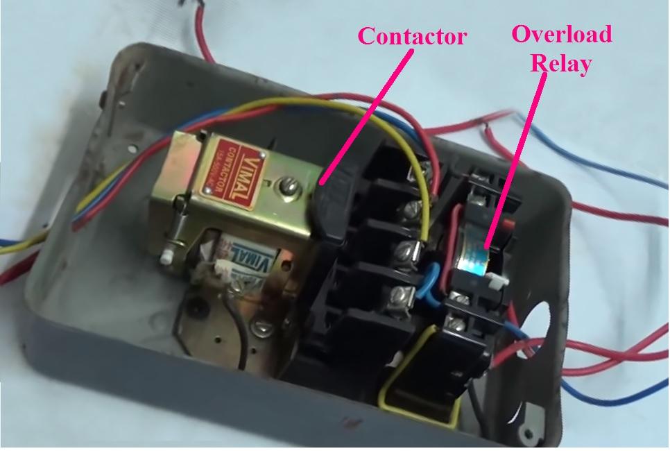 direct online starter[dol starter] diagram full explained etechnog Vehicle Remote Starter Wiring Diagram