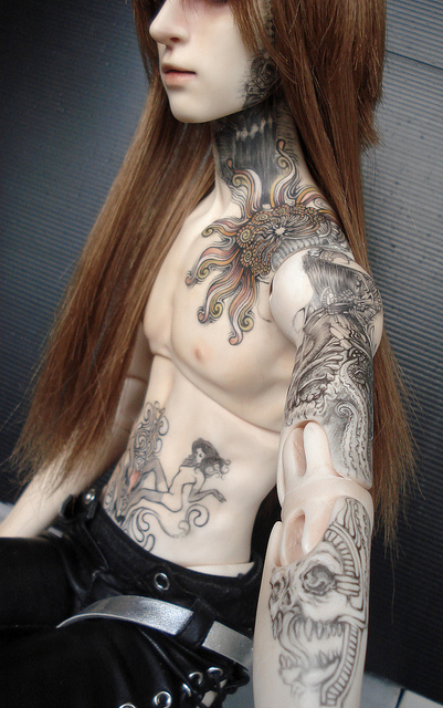 INK IT UP Traditional Tattoos: Ball jointed dolls with tattoos