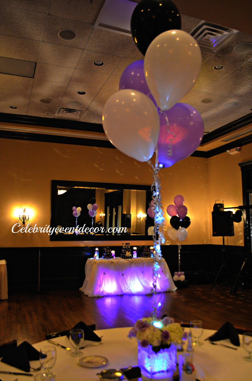Centerpiece With Lights Out : Celebrity event decor banquet hall llc