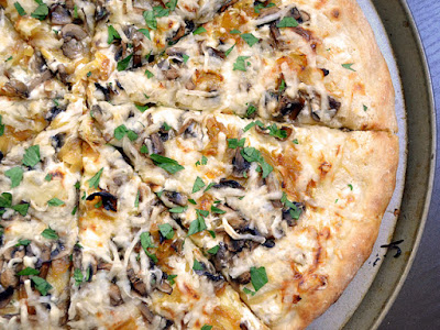 Mushroom and Garlic-Bacon Pizza Recipes