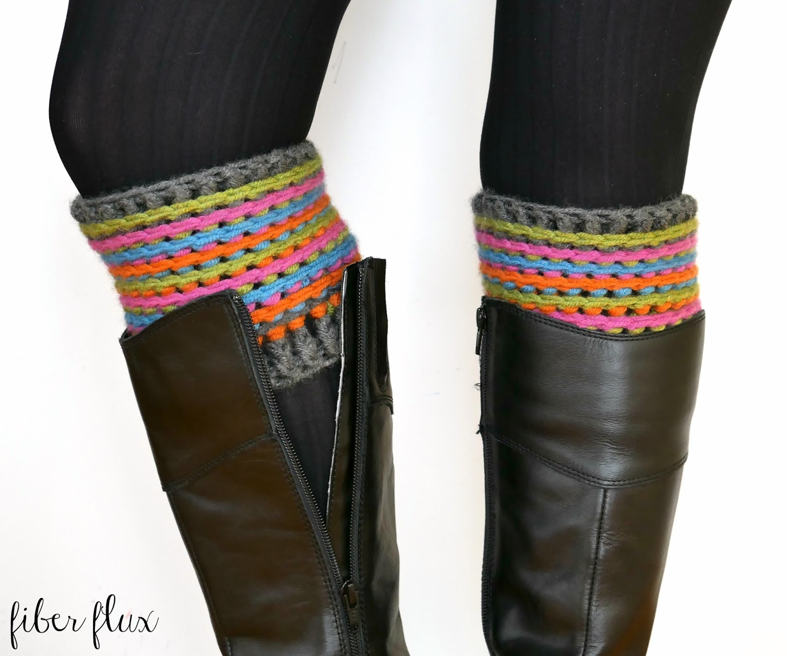 Fiber Flux Free Crochet Patterncelebration Boot Cuffs