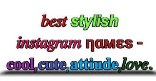 stylish Instagram names