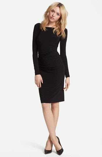 KAMALIKULTURE Shirred Long Sleeve Dress