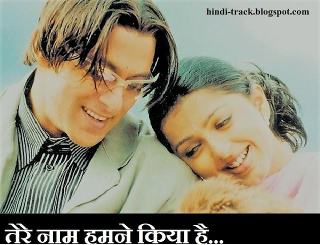 तेरे नाम | Tere Naam Hindi  Lyrics (Udit Narayan & Alka)-tere naam movie-salmaan khan