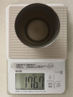 サーモス 真空断熱タンブラーJDE-340 実重量176.1g