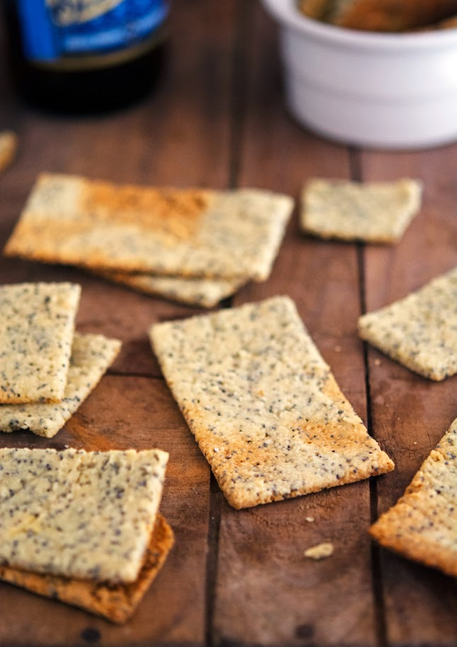 Almond-Poppy Crackers