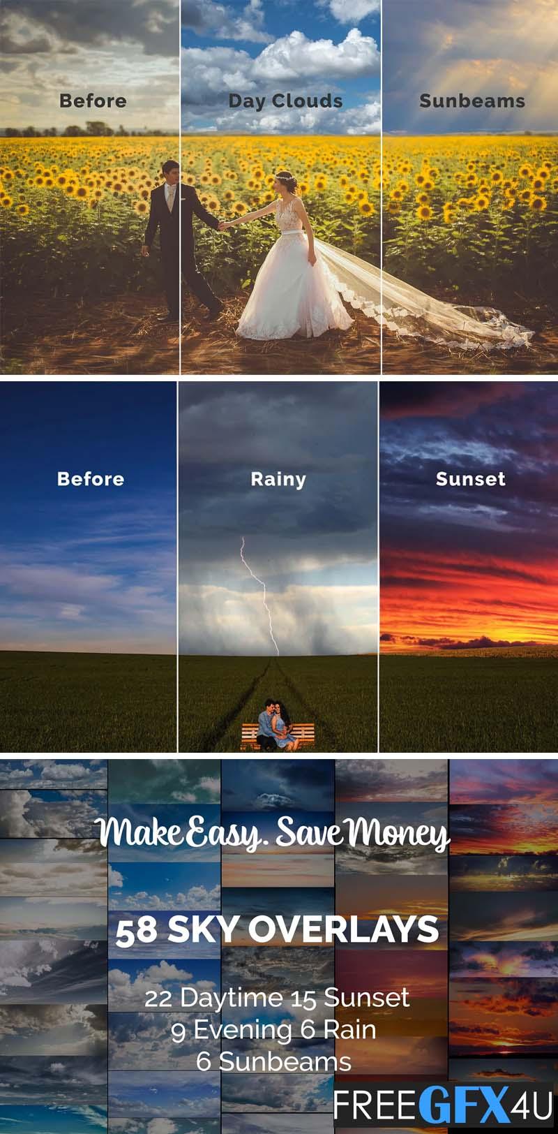 58 Sky Photoshop Overlays Pack