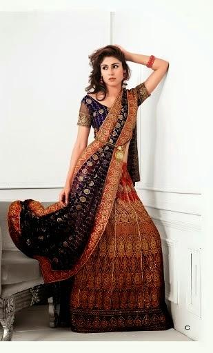 Latest Bridal A-Line and Fish Tail Lehenga Ghagra Choli For Weddings ~ Pakistani Dress Designs