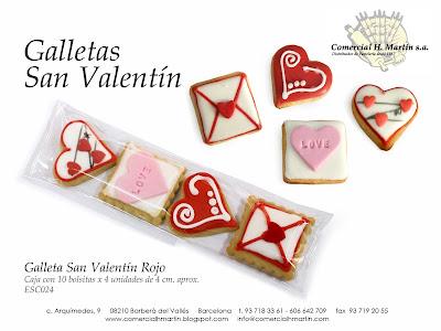 Galletas creativas San Valentín - Comercial H Martín sa
