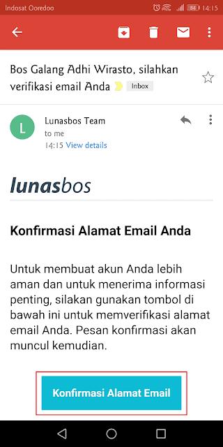 verifikasi identitas melalui alamat email