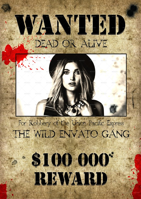 20 Best Wanted Poster Templates PSD Download - Designsmagorg - most wanted posters templates