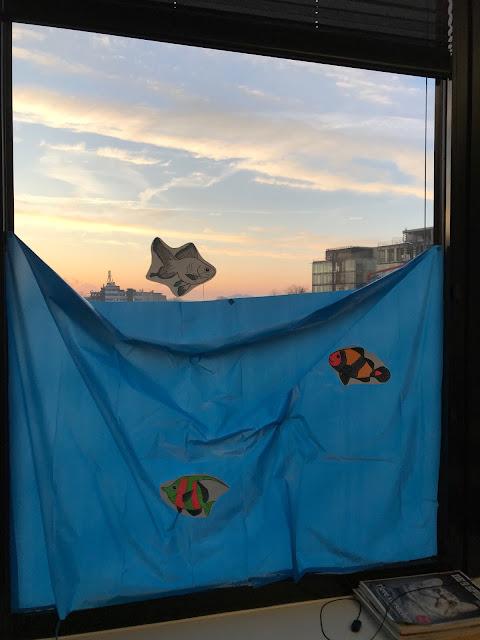 Mottoparty Unter Wasser - Fenster-Deko