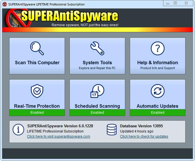 SUPERAntiSpyware Professional 8.0.1052