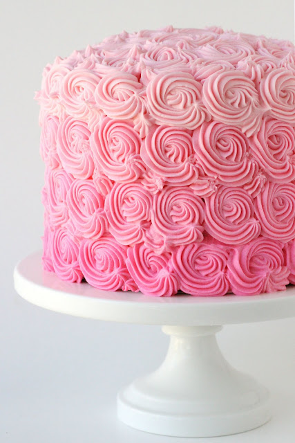 Pink Ombre Cake Frosting
