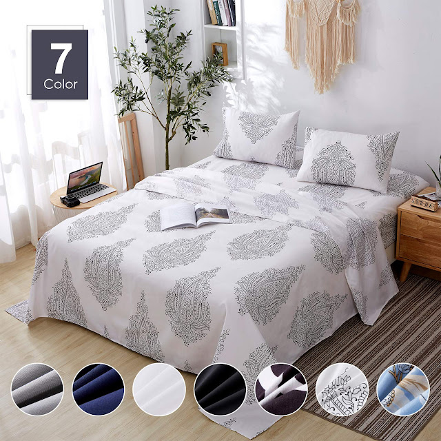 Agedate 4 Piece Brushed Microfiber Bed Sheets Set