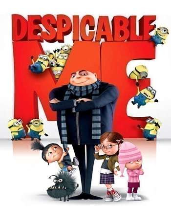 Poster Of Free Download Despicable Me 2010 300MB Full Movie Hindi Dubbed 720P Bluray HD HEVC Small Size Pc Movie Only At worldfree4u.com