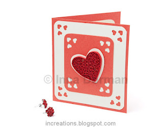 Simple Valentine's Day card with quilling