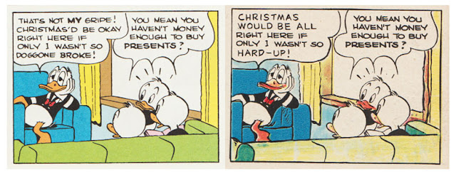 Original and British dialogue from Carl Barks' Christmas on Bear Mountain