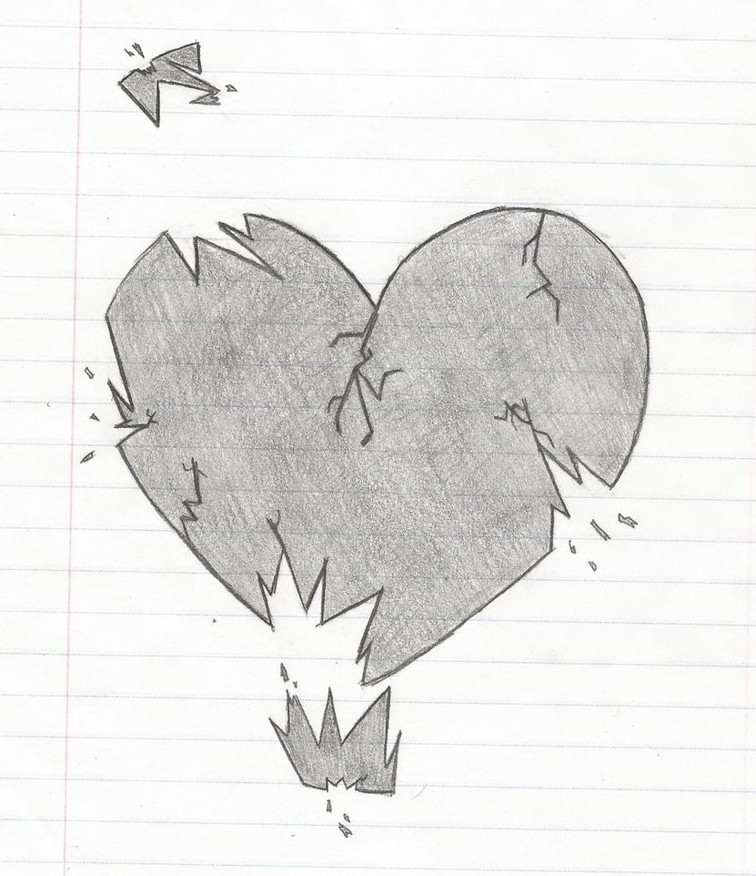 easy broken heart drawings in pencil ourhealthytips