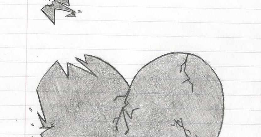 easy broken heart drawings in pencil ourhealthytips
