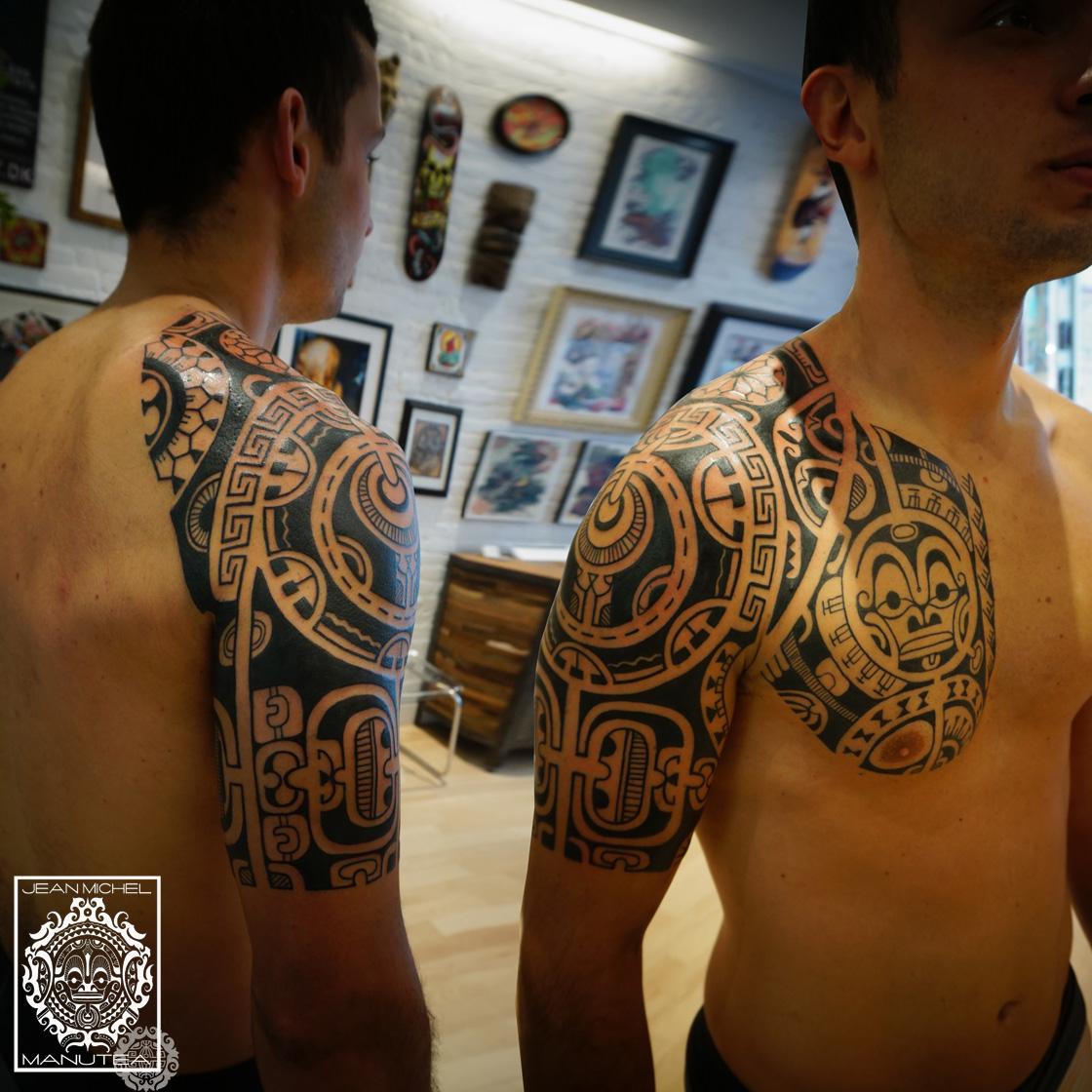 Fond d 39 cran tatouage polyn sien fonds d 39 cran hd - Tatouage arriere bras ...