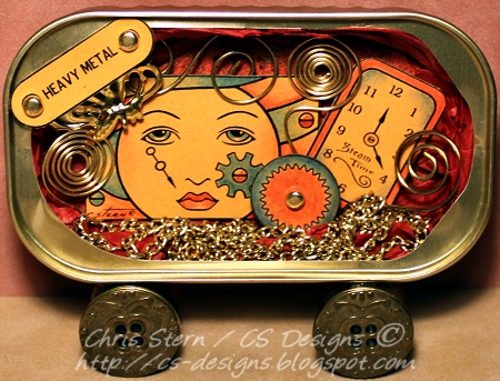 Steampunk Altered Sardine Can