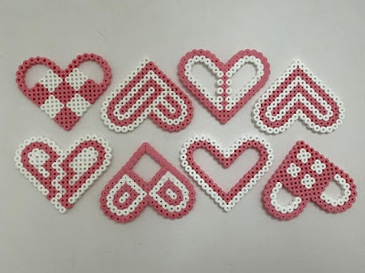 Hama bead heart patterns