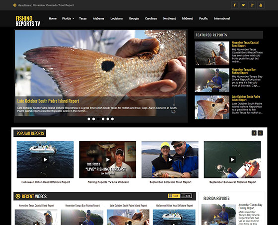 Visit Fishing Reports TV Website
