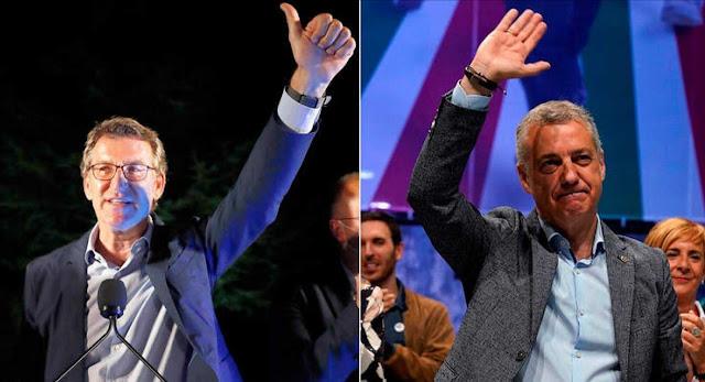 Feijóo y Urkullu revalidan su presidencia, suben los nacionalistas y baja la izquierda