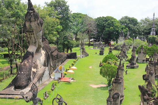 Parco di Buddha (Xiengkuane) a Vientiane