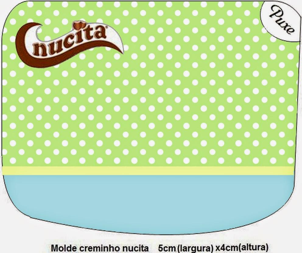 Etiqueta Nucita de Verde y Celeste para imprimir gratis.