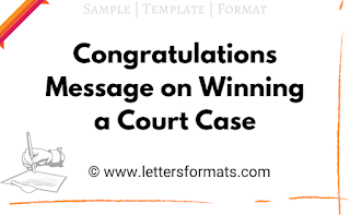congratulations message on winning a court case