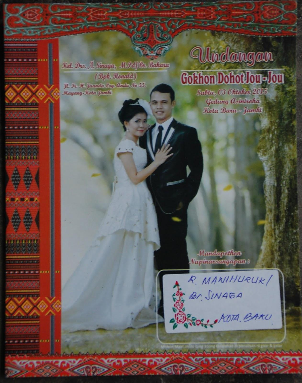 Contoh Undangan Pernikahan Contoh Undangan Pernikahan Batak Toba