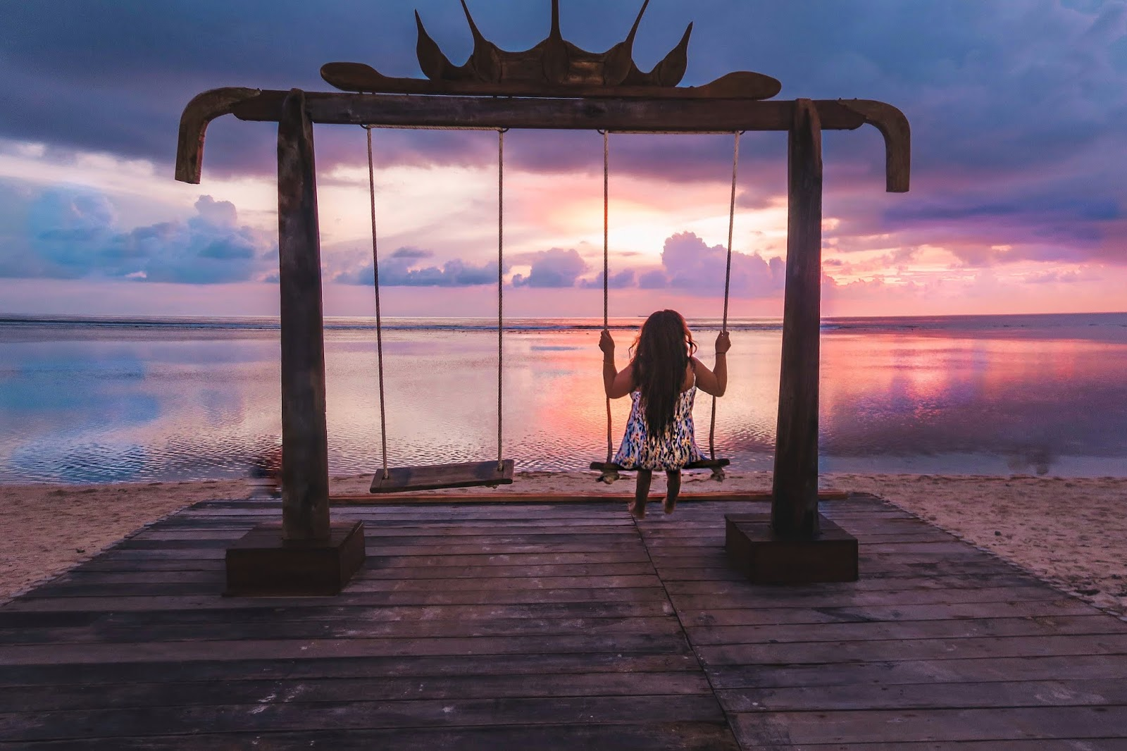Sunsets in Gili Trawangan, Swings in Bali Indonesia