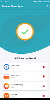 Remove china apps scan page